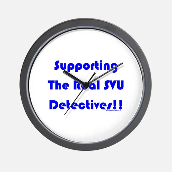 Supportin Real SVU Detectives Wall Clock