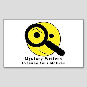 Mystery Writer Rectangle Sticker