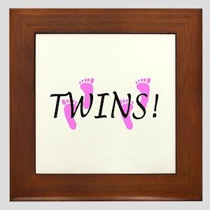 Twin Girls Framed Tile