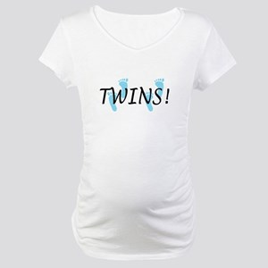 Twin Boys Maternity T-Shirt