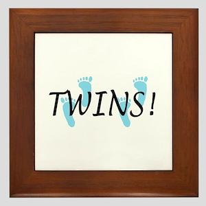 Twin Boys Framed Tile