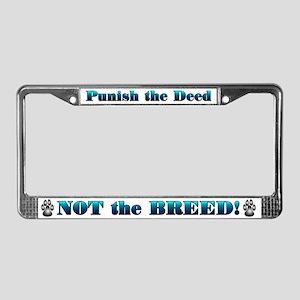 Blue Anti-BSL License Plate Frame