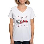"""""""Musical Kim Jong Kook"""" Women's V-Neck T-Shirt"""