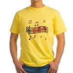 """Musical Kim Jong Kook"" Yellow T-Shirt"