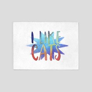 I like cats 5'x7'Area Rug