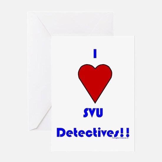 Heart SVU Detectives Greeting Card