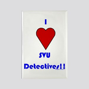 Heart SVU Detectives Rectangle Magnet