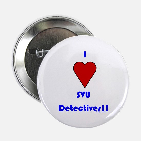 """Heart SVU Detectives 2.25"""" Button"""