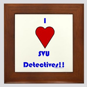 Heart SVU Detectives Framed Tile