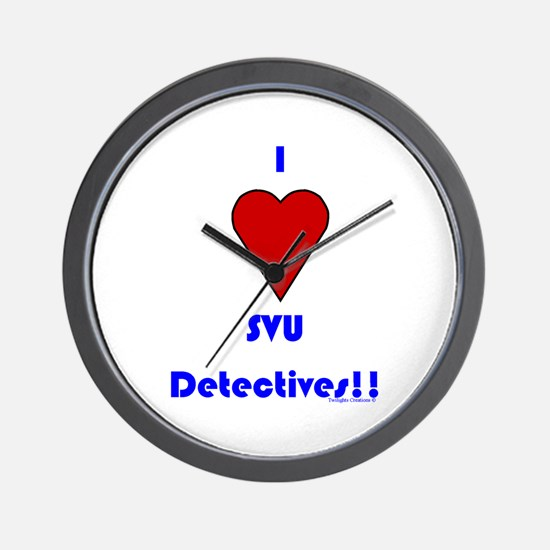 Heart SVU Detectives Wall Clock