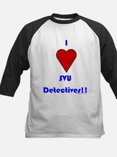 Heart SVU Detectives Kids Baseball Jersey