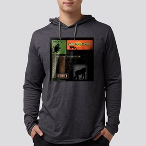 SOH: Monkeys, Silhouettes 2 Mens Hooded Shirt