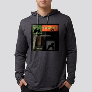 SOH: Primate Silhouettes 1 Mens Hooded Shirt