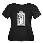 YAYOBS Women's Plus Size Scoop Neck Dark T-Shirt