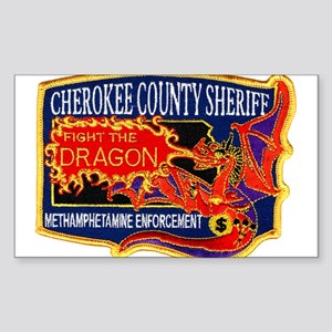 Cherokee County Anti-Drug Rectangle Sticker