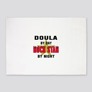 Doula By Day, Rock Star By night 5'x7'Area Rug