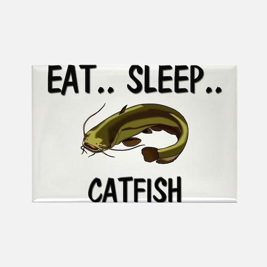 Eat ... Sleep ... CATFISH Rectangle Magnet
