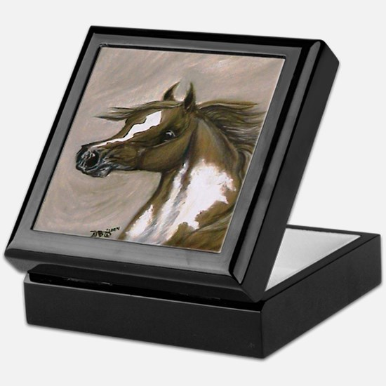 Pinto Paint Horse Keepsake Box
