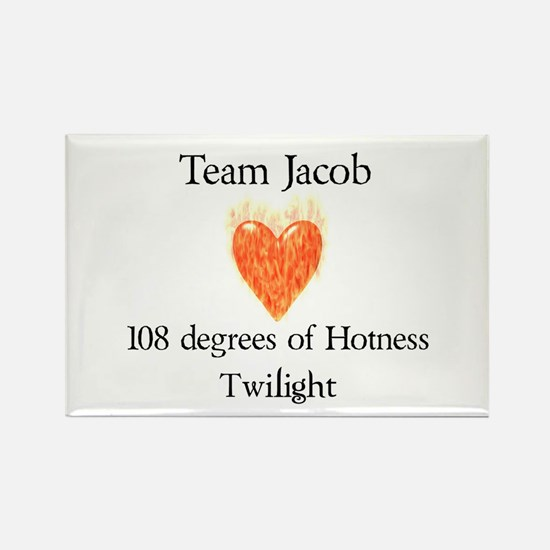 Team Jacob - Light MP Rectangle Magnet