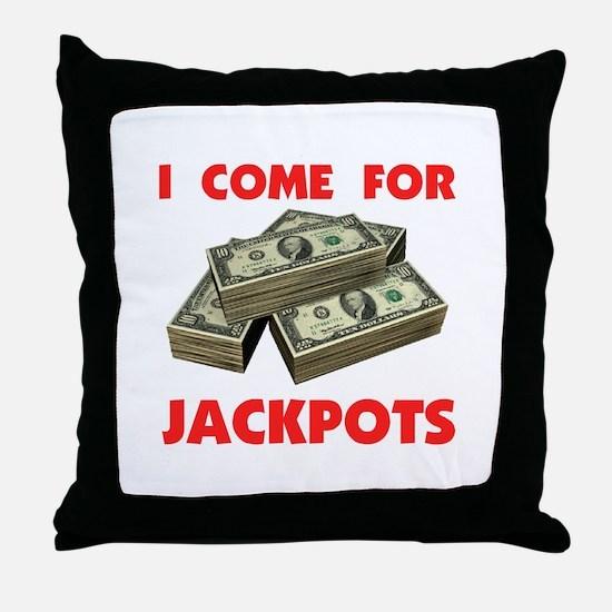 JACKPOTS TURN ME ON Throw Pillow