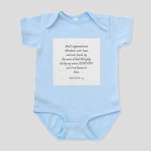 EXODUS  6:3 Infant Creeper