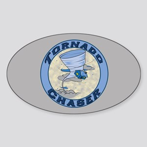 Tornado Chaser Oval Sticker