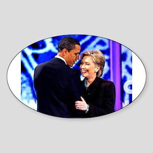 Obama & Clinton Oval Sticker