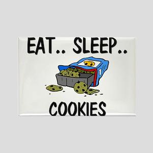 Eat ... Sleep ... COOKIES Rectangle Magnet
