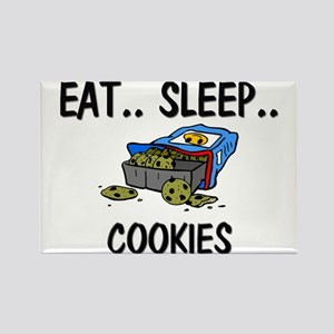 Eat ... Sleep ... COOKIES Rectangle Magnet