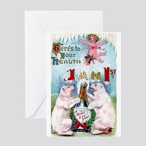 New Year's Day Greeting Card