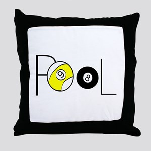 Word Pool Throw Pillow