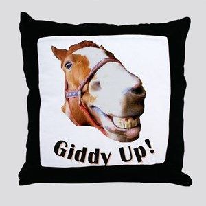 Giddy Up! Throw Pillow