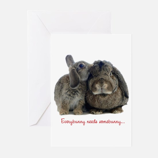 Everybunny needs somebunny Greeting Cards (Package