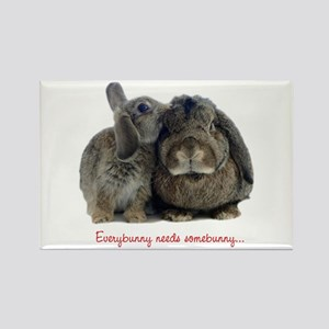 Everybunny needs somebunny Rectangle Magnet