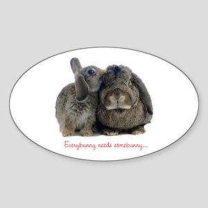 Everybunny needs somebunny Oval Sticker