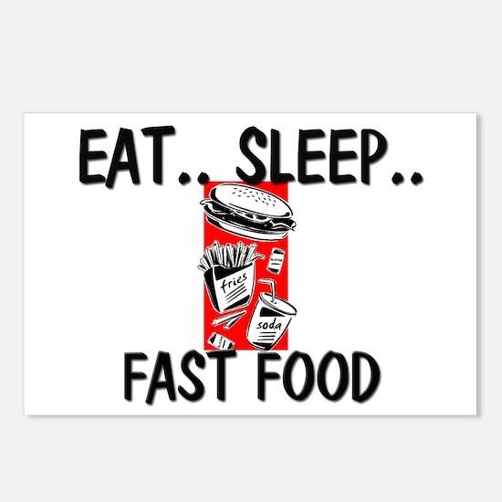 Eat ... Sleep ... FAST FOOD Postcards (Package of