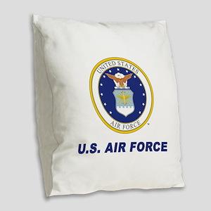 U.S. Air Force Burlap Throw Pillow