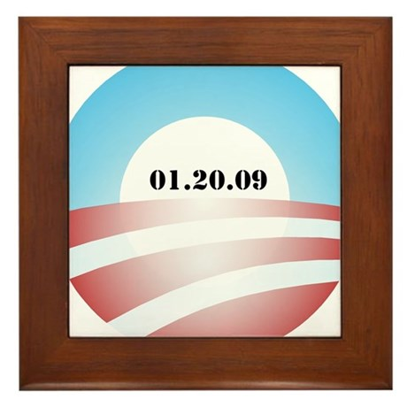 Obama Inauguration Logo 01.20 Framed Tile