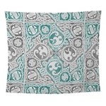 Celtic Puzzle Square Wall Tapestry