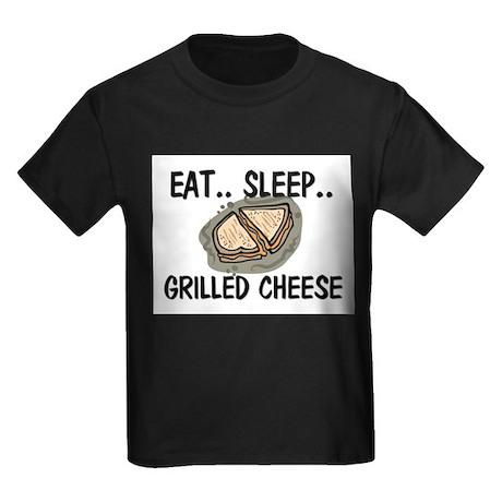 Eat ... Sleep ... GRILLED CHEESE Kids Dark T-Shirt