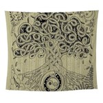 Circle Celtic Tree of Life Ink Wall Tapestry