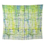 Electric Rain Abstract Wall Tapestry