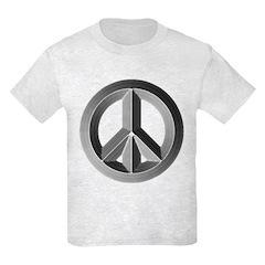 Silver Peace Symbol T-Shirt