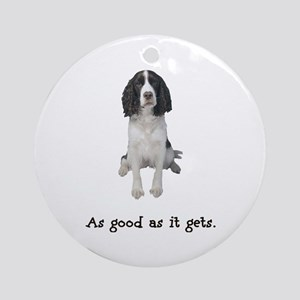 Good Springer Spaniel Ornament (Round)