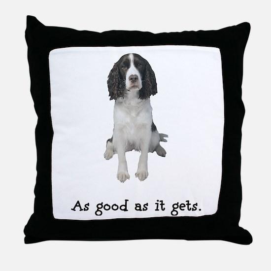 Good Springer Spaniel Throw Pillow
