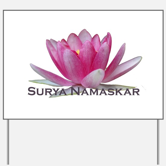 Surya Namaskar Yard Sign