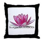 Surya Namaskar Throw Pillow