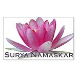 Surya Namaskar Rectangle Sticker