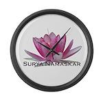 Surya Namaskar Large Wall Clock