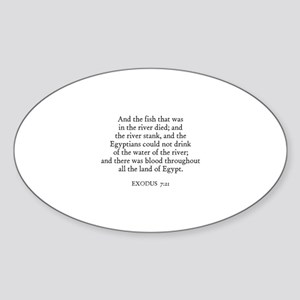 EXODUS 7:21 Oval Sticker